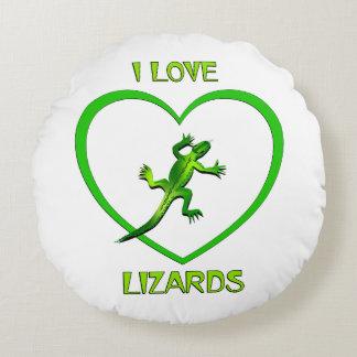 Almofada Redonda Eu amo lagartos