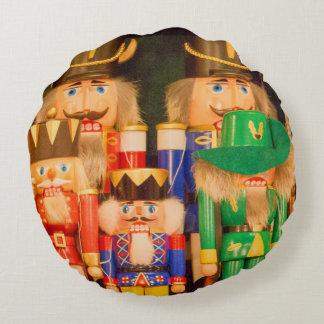 Almofada Redonda Exército de Nutcrackers do Natal