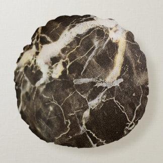 Almofada Redonda Expressionism do Marmorear-Abstrato por Shirley