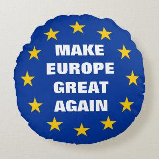 Almofada Redonda Faça bandeira do excelente de Europa a euro- outra