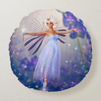 Almofada Redonda Fada azul da flor