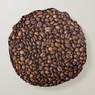 Almofada Redonda Feijões de café!