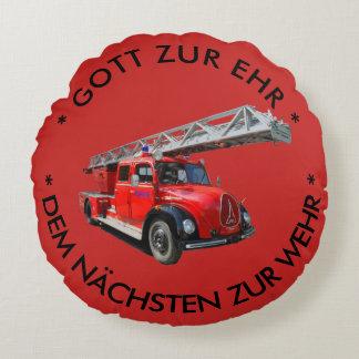 Almofada Redonda Feuerwehrauto com dito