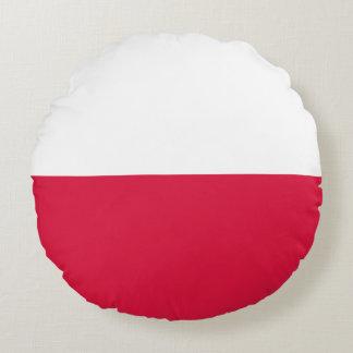 Almofada Redonda Flaga Polski - bandeira polonesa