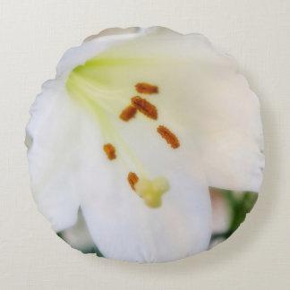 Almofada Redonda Flora branca