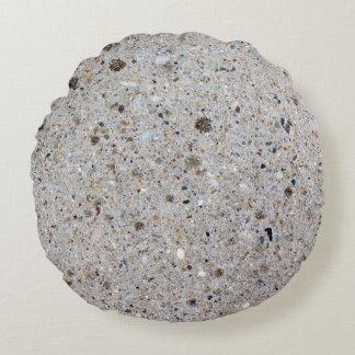 Almofada Redonda Foto concreta da superfície do cimento