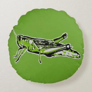 Almofada Redonda Gafanhoto verde do pop art