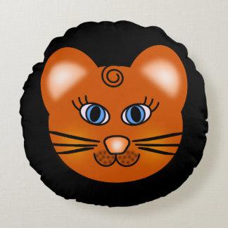 Almofada Redonda Gato de sorriso dos desenhos animados