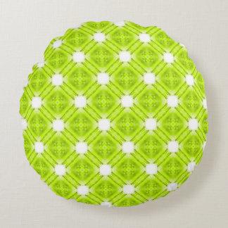 Almofada Redonda Geométrico verde e branco do quivi