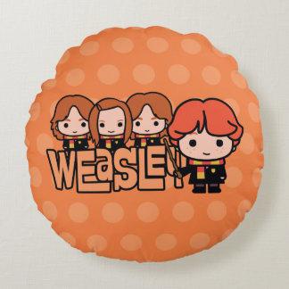 Almofada Redonda Gráfico de Weasley Siblilings dos desenhos