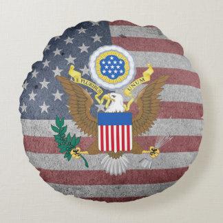Almofada Redonda Grande selo dos Estados Unidos
