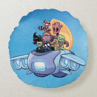 Almofada Redonda Guardiães do navio dos pilotos da galáxia   Gamora