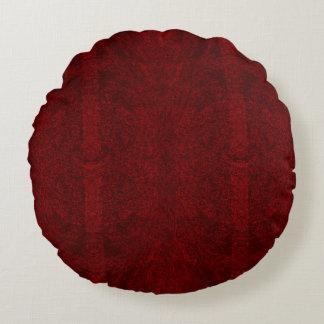 Almofada Redonda I vermelho escuro - Travesseiro decorativo redondo
