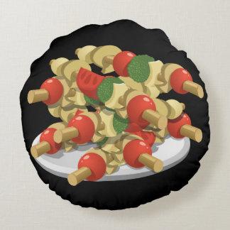 Almofada Redonda Kebabs super do vegetariano da comida do pulso