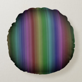 Almofada Redonda Linha teste padrão da listra da rocha do arco-íris
