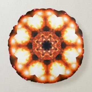 Almofada Redonda Mandala do girassol