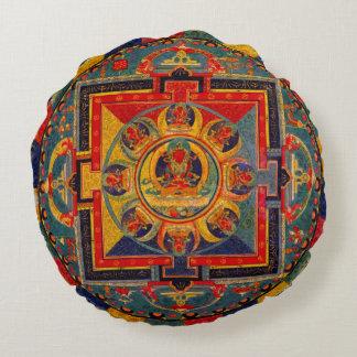 Almofada Redonda Mandala Indie decorativa da arte