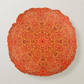 Almofada Redonda Mandala morna detalhada das cores