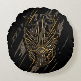 Almofada Redonda Marcas da garra da pantera preta | Erik Killmonger