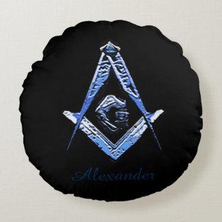 Almofada Redonda Mentes maçónicas (azuis)