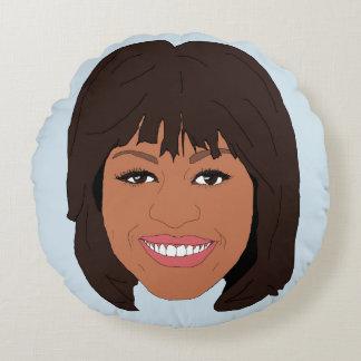 Almofada Redonda Michelle Obama
