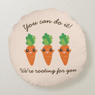 Almofada Redonda Nós estamos enraizando para você cenouras