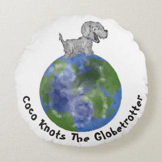 Almofada Redonda O Coco ata o Globetrotter