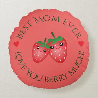 Almofada Redonda O melhor amor do dia das mães da mamã nunca você