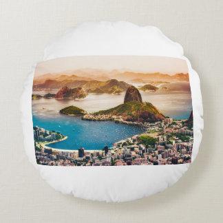 Almofada Redonda Opinião da arquitectura da cidade de Rio de