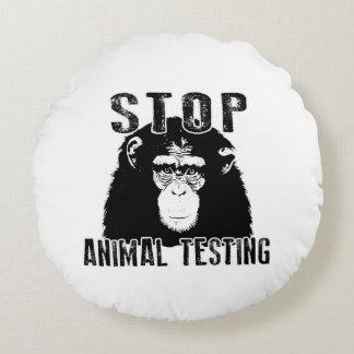 Almofada Redonda Pare o teste animal - chimpanzé