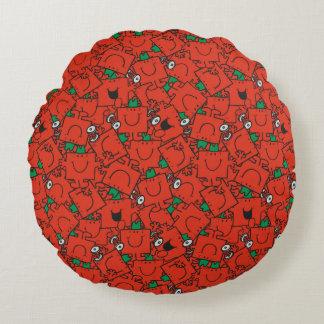Almofada Redonda Pesos de levantamento do Sr. Forte | vermelhos &