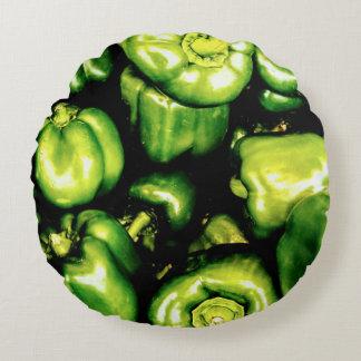 Almofada Redonda Pimentas de Bell verdes
