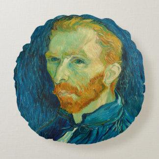 Almofada Redonda Pintura 1889 do retrato de auto de Vincent van