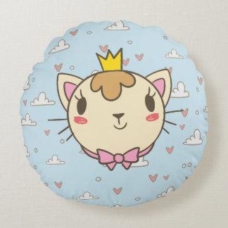 Almofada Redonda Princess cat