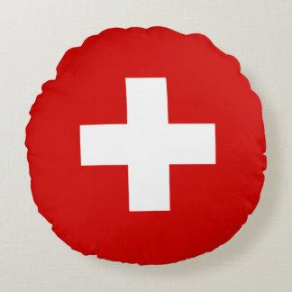 Almofada Redonda Qualidade da bandeira da suiça