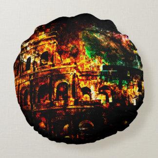 Almofada Redonda Respire outra vez sonhos dos padrões romanos perto