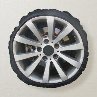 Almofada Redonda Roda e pneu de carro