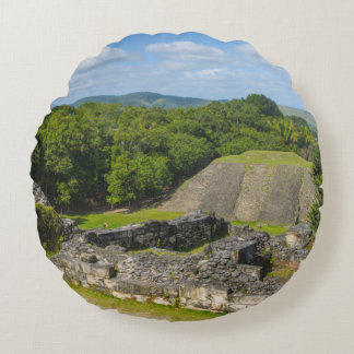 Almofada Redonda Ruína maia de Xunantunich em Belize