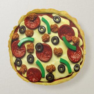 Almofada Redonda Sala da festa de aniversário da pizza dos miúdos