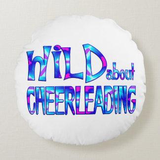 Almofada Redonda Selvagem sobre Cheerleading
