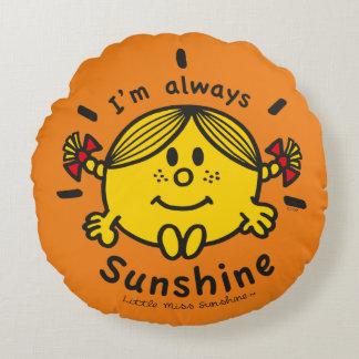 Almofada Redonda Senhorita pequena Luz do sol | eu sou sempre luz