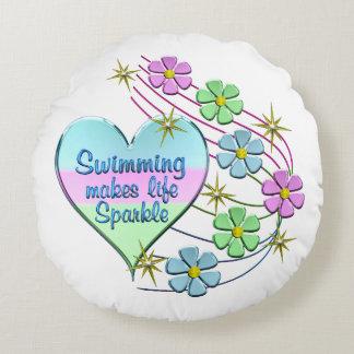 Almofada Redonda Sparkles nadadores