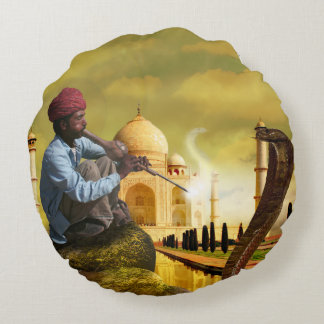 Almofada Redonda Taj Mahal