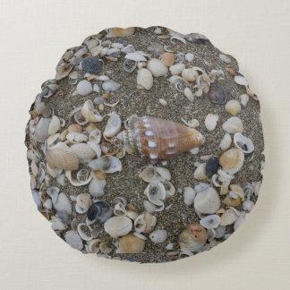 Almofada Redonda Tesouro do Seashell do Conch