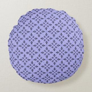 Almofada Redonda Teste padrão de mosaico roxo