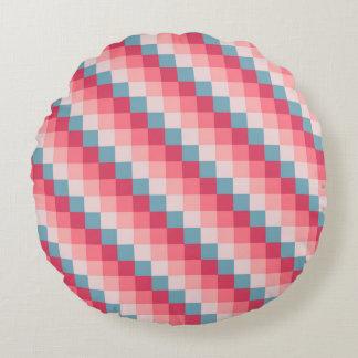 Almofada Redonda Teste padrão geométrico das listras do pixel da