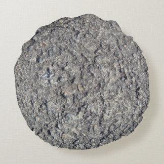 Almofada Redonda Textura concreta áspera cinzenta 060
