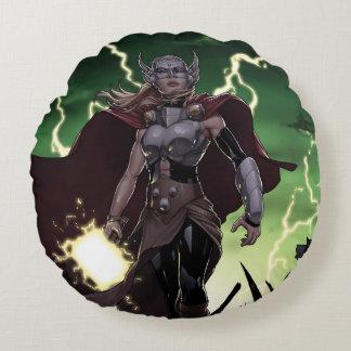 Almofada Redonda Thor sobre inimigos massacrados