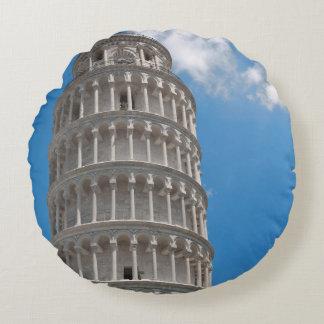 Almofada Redonda Torre inclinada de Pisa em Italia
