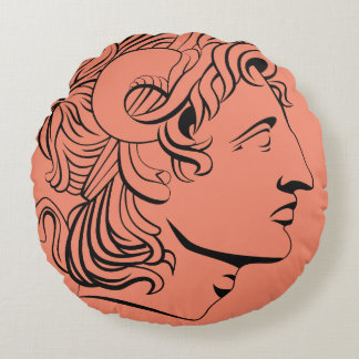Almofada Redonda travesseiro antigo da moeda